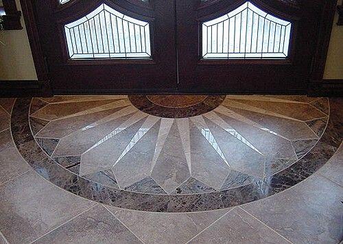 TILE ENTRY DESIGN | entry wet bar in family room entry hallway ...