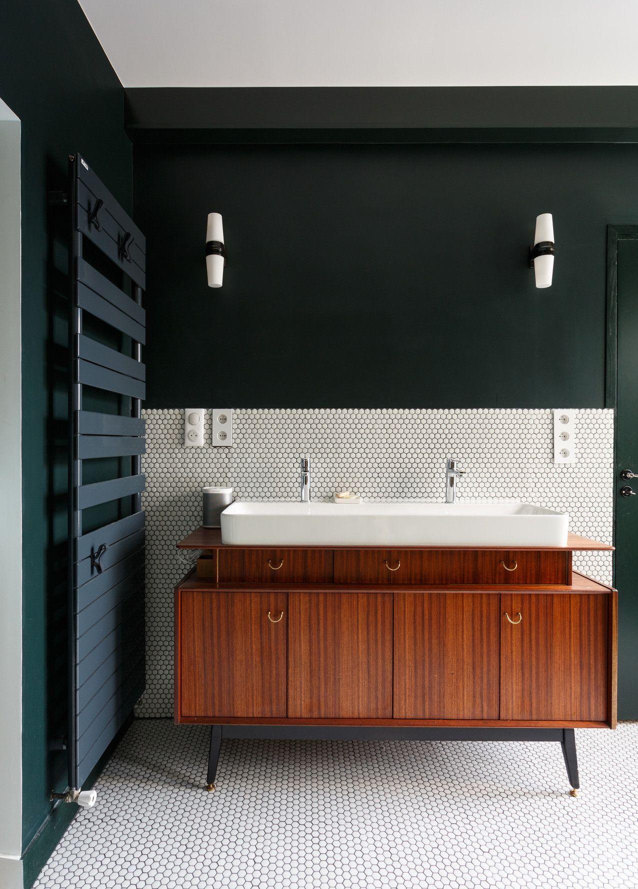 Une cuisine et une salle de bain esprit Art Déco dans un ...