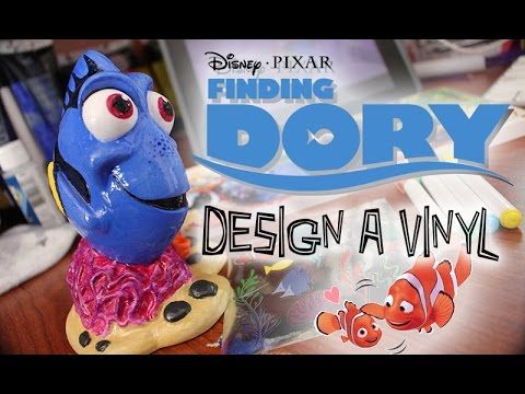 Finding Dory Design A Vinyl Speed Painting The Dan O Channel Disney Diy Finding Dory Vinyl