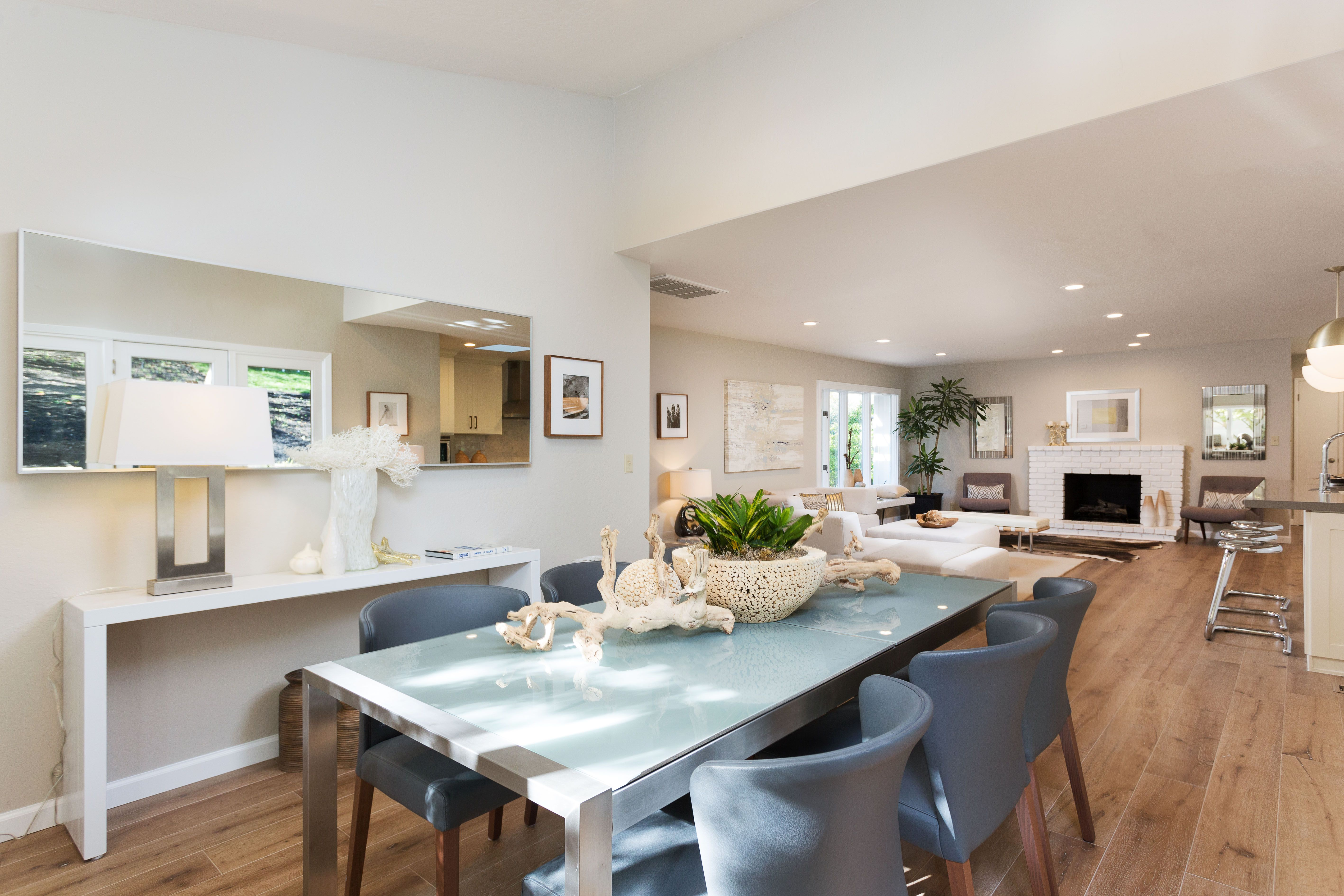 Just renovated, this modern, open concept floor plan on one level ...