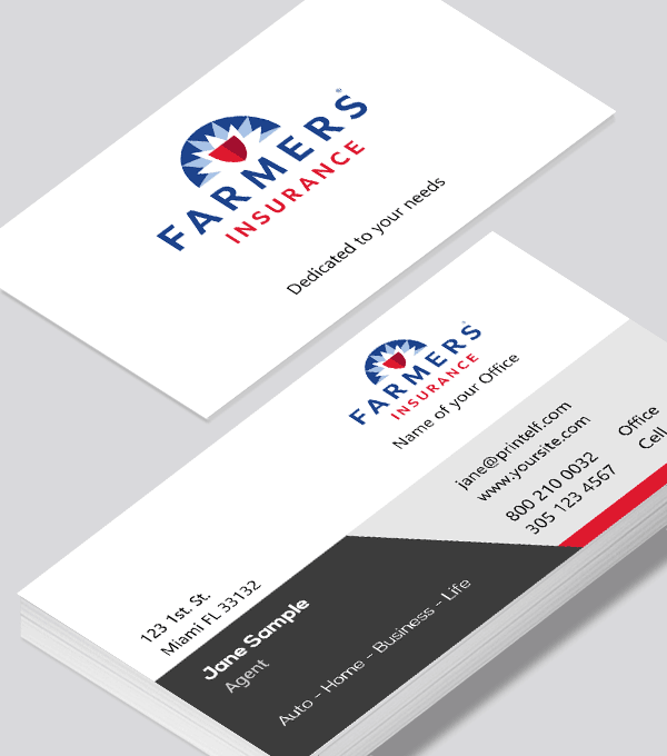 Farmers Insurance Business Cards Business Card Modern Modern Business Cards Design Farmers Insurance