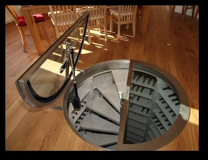 basement storage solutions | Circular motorised cellar door & basement storage solutions | Circular motorised cellar door | Just ...