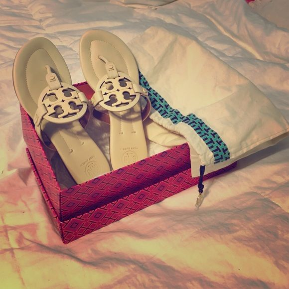0f69d53a990a8b ... Tory Burch Miller 2 Sandal in Dulce De Leche Tory Burch leather sandal.  Size 7 ...