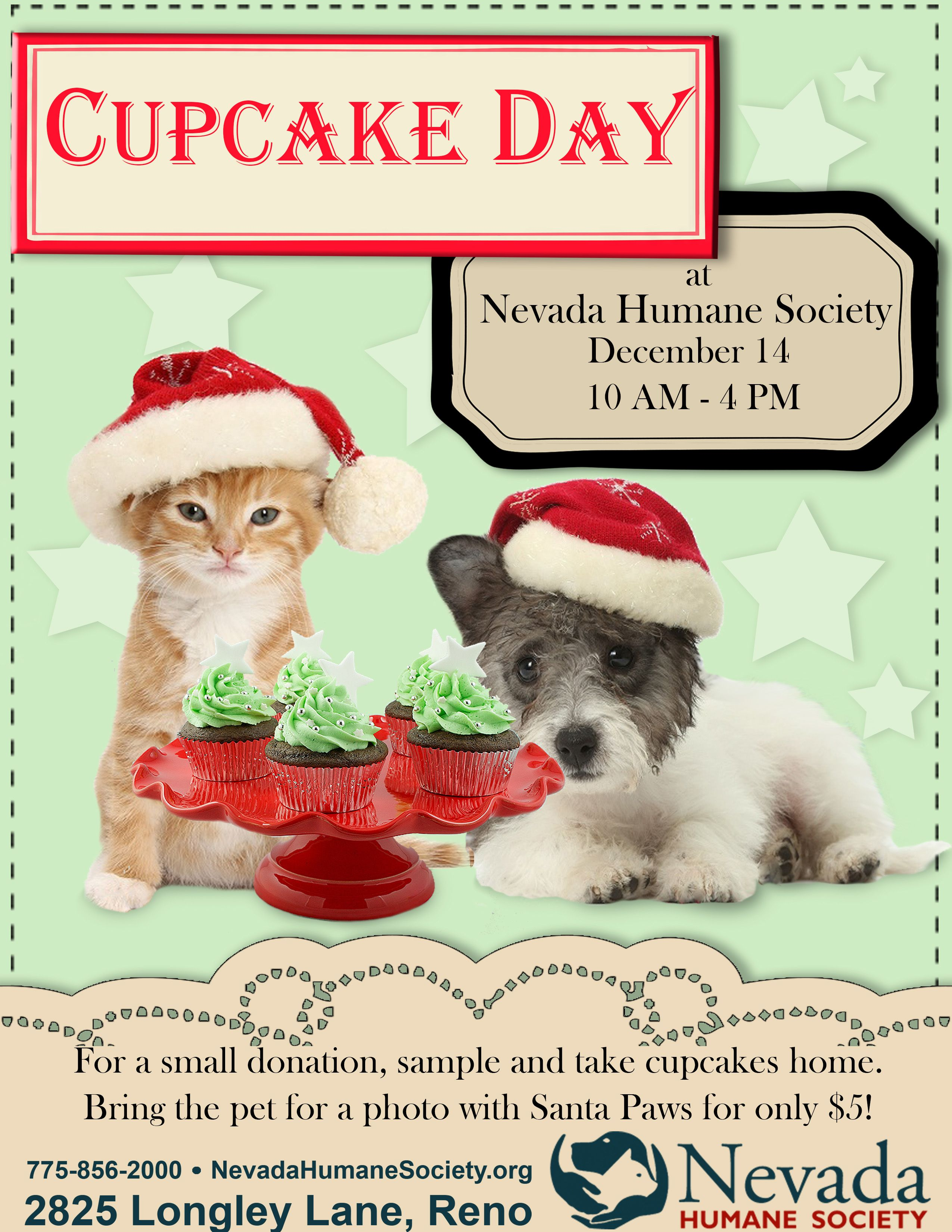 Our Annual Cupcake Day And Pet Photos With Santa Paws Santa Paws Humane Society Cupcake Day