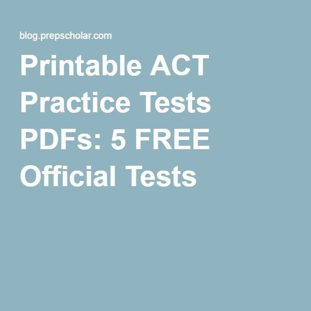 Printable ACT Practice Tests PDFs 5 FREE Official Tests Teaching - fresh blueprint lsat reading comprehension book