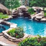 Sherry... here is a pretty pool with a nice waterfall AND hidden slide!!! By far the best pool idea yet