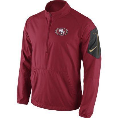 San Francisco 49ers Lockdown II Half Zip Nike Jacket | Nike jacket, San  francisco 49ers and Nfl san francisco