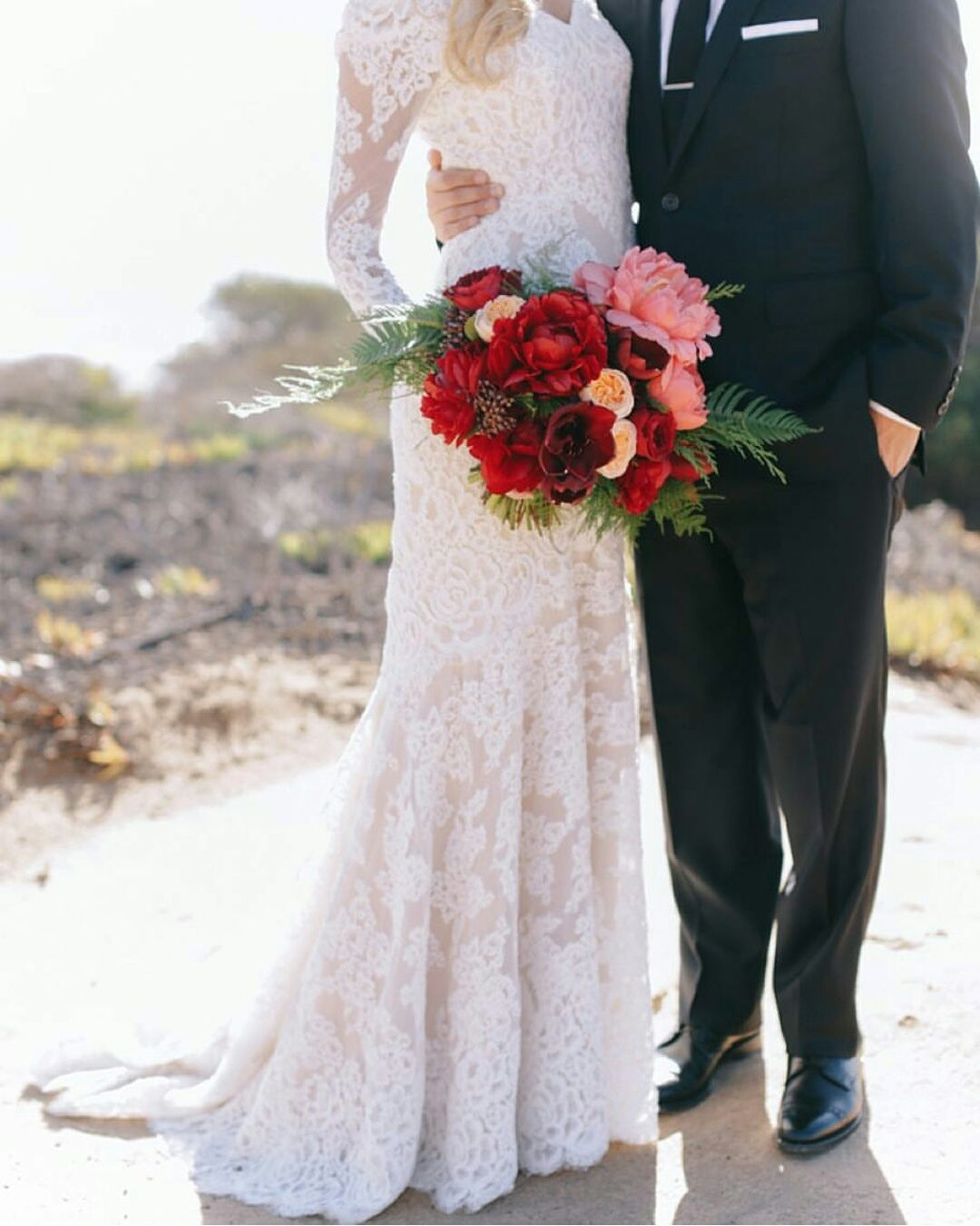 Modest long sleeve lace wedding dresses  modest wedding dress with long sleeves and a slim skirt from alta