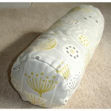 "16""x6"" Cylinder Bolster Pillow Cover Neck Roll Round Scatter Throw Cushion Sham Case Grey Mustard Yellow Ochre Seedhead Flowers 6x16 16x6"