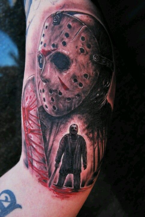 Jason Voorhees Horror Tattoo Movie Tattoos Scary Tattoos