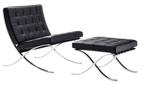 Mies Van Der Rohe Barcelona Chair And Stool 1929 Iconic Furniture Design Mies Van Der Rohe Barcelona Chair Iconic Chairs