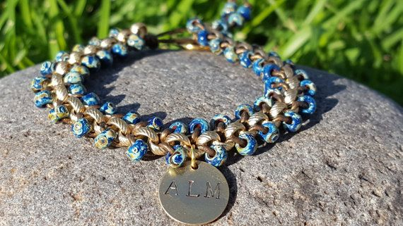 All Lives Matter Blue Picasso Beaded Gold by PieceOfInspiration