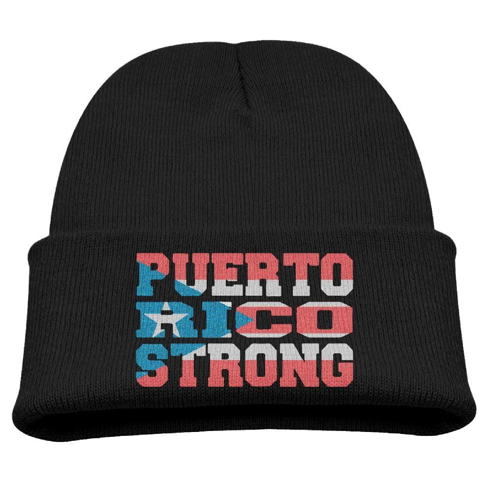 4ce4515d090 Puerto Rico Strong Fuerte Support Unisex Kids Warm Winter Hat Knit Beanie  Skull Cap Cuff Beanie