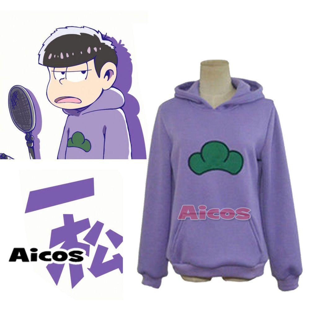 6f69fcd045f7 GBP 21.68 Osomatsu-san Matsuno Ichimatsu Purple Hoodie Hoody Sweater Cosplay  Costume  Aicos  Hoodie