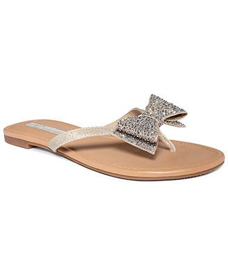 0ee92f41f INC International Concepts Women s Maey Bow Thong Sandals in pearl gold  (size 10)...so pretty!