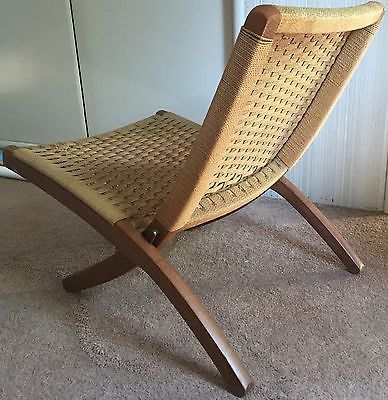 Super Vtg 60S Folding Rope Chair Mid Century Modern Retro Veda Afm Ocoug Best Dining Table And Chair Ideas Images Ocougorg