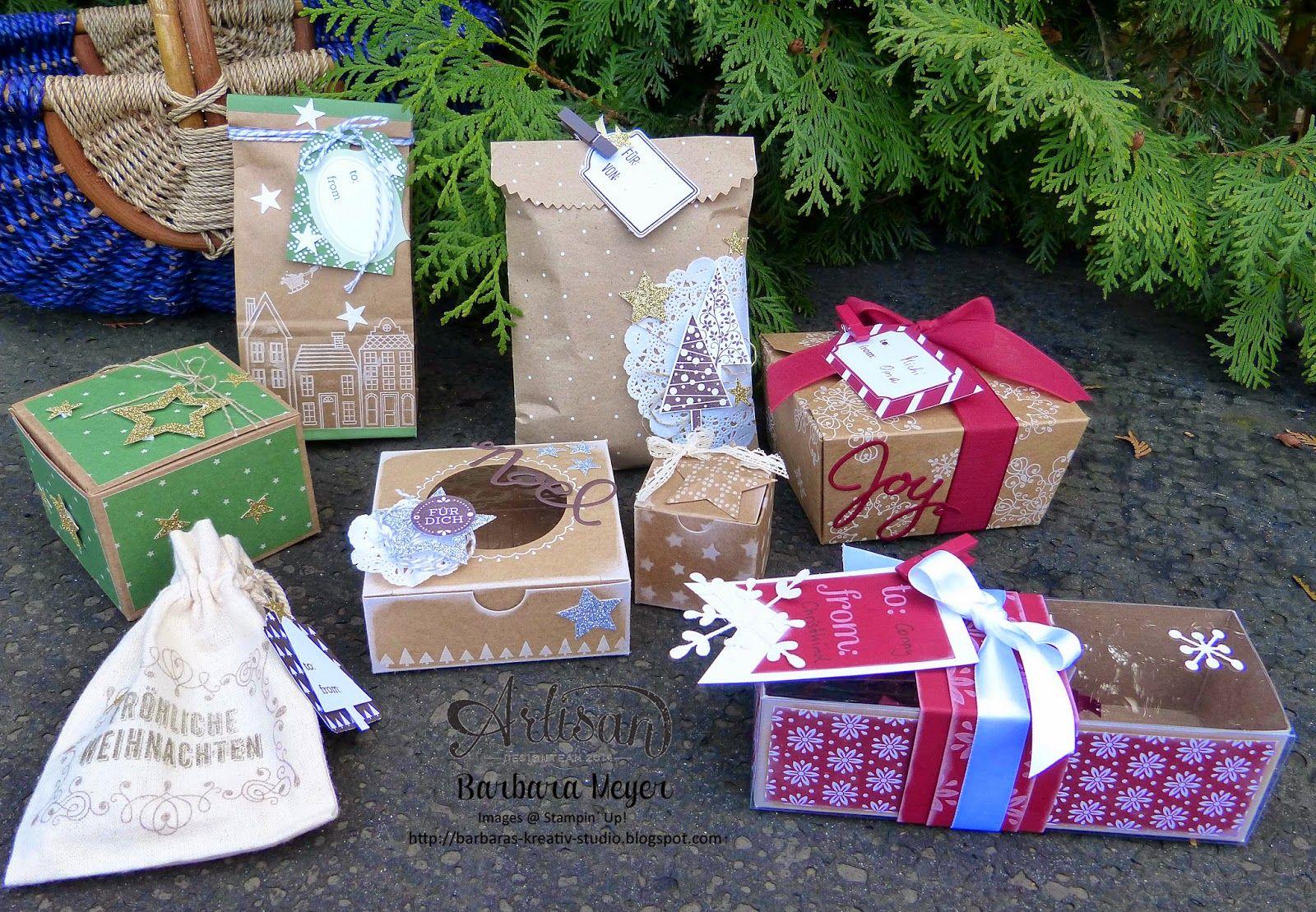 Stampinup Wien und Umgebung, Stampinup Österreich, Verpackungen, Weihnachten, Schachteln selber dekorieren