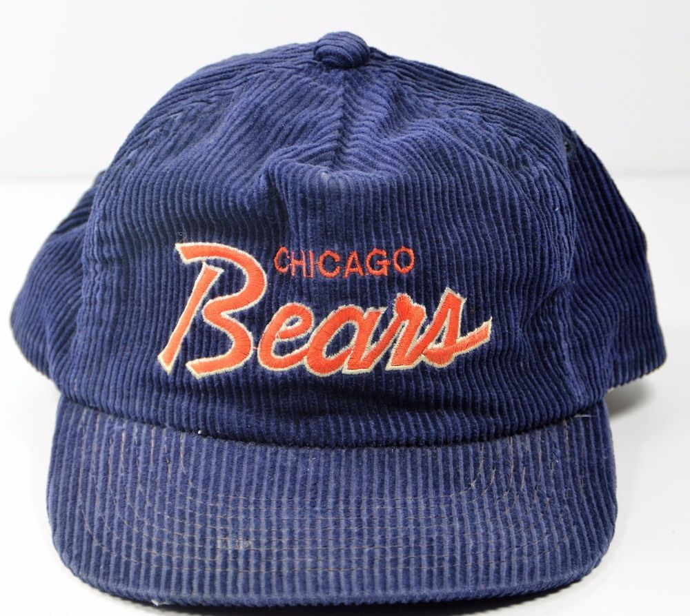 quality design 55c1b 966a4 VTG Chicago Bears Script Hat Blue Cap The Cord Corduroy NFL Griswold   SportsSpecialties  ChicagoBears
