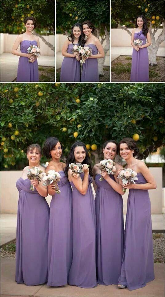 Purple | Alexa\'s wedding ideas | Pinterest | Vestidos para damas de ...