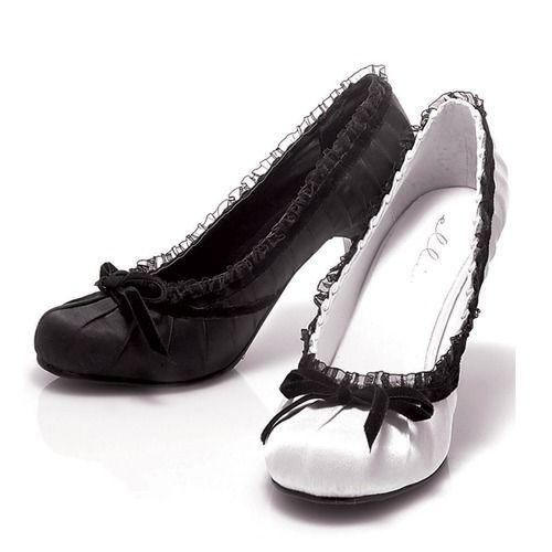 4 Inch Stiletto Heel Babydoll Satin Pumps w/Lace Trim - Google Search
