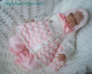 82fac92ba325 BABY MATINEE KNITTING PATTERN  45 by ShiFios Patterns