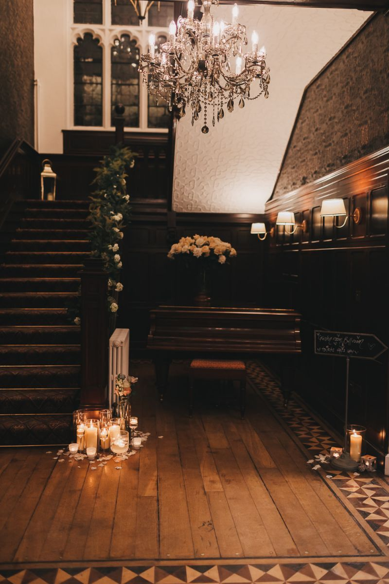 North Wales wedding venue Tyn Dwr Hall Stairs Decorated ...