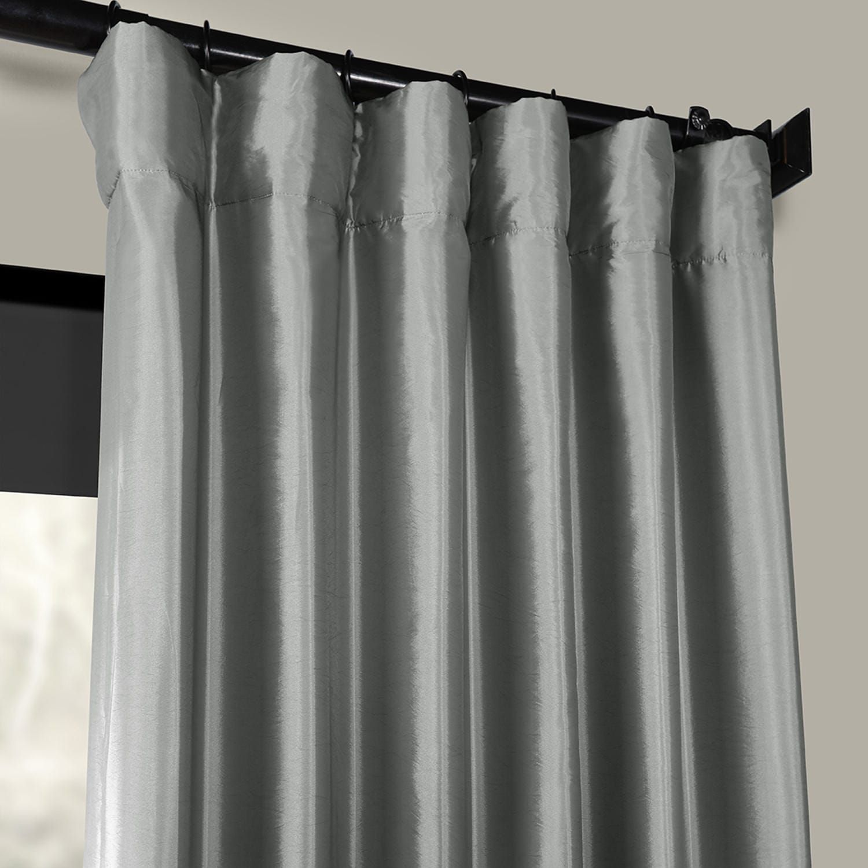 Faux Silk Taffeta Curtains Platinum Drapes Curtains Single Curtain Panel Custom Drapes