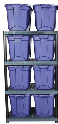 Plano 4 Shelf Ventilated Resin Storage Unit 36 W X 62 H X 24 D At