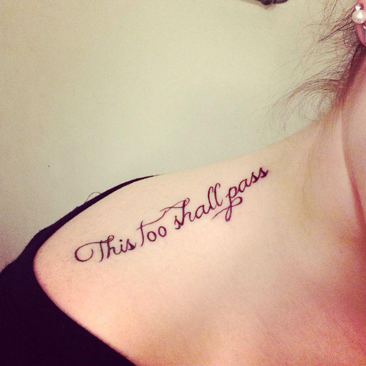 Too Shall Pass Tattoo Luck Dragons Tattoo Tattoo Ink Tattoo Someday