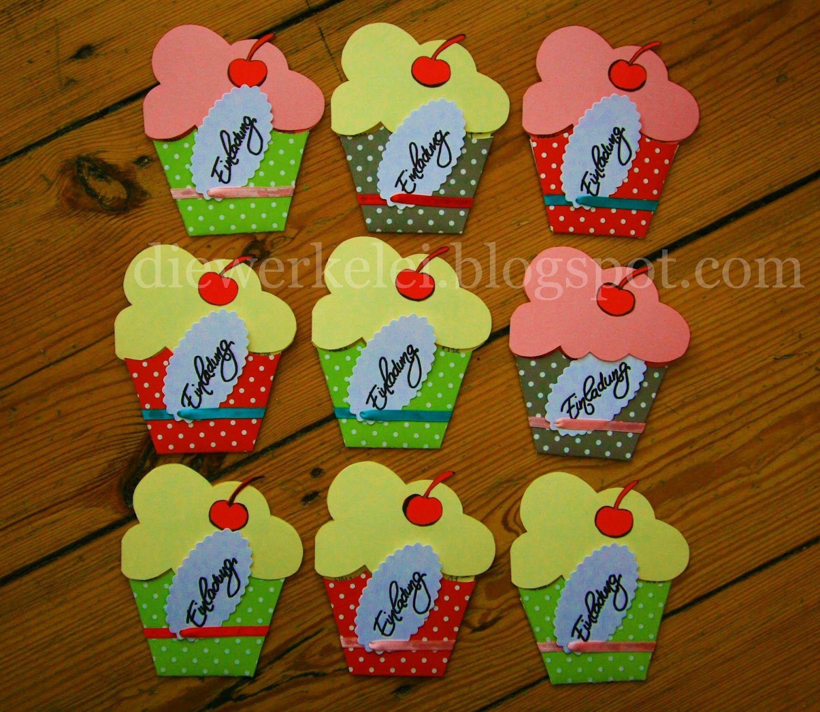 die werkelei fröhlich: einladungskarten: cupcake muffin, Einladungsentwurf
