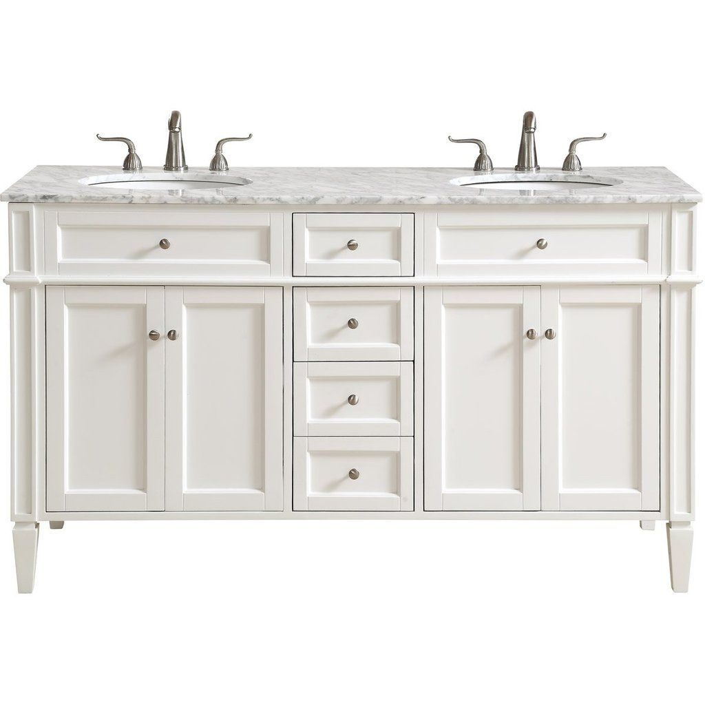 Park Avenue 60 X 35 4 Drawer 4 Door Vanity Cabinet White Finish Vf12560dwh Double Vanity Bathroom Bathroom Decor Accessories Bathroom Inspiration Modern