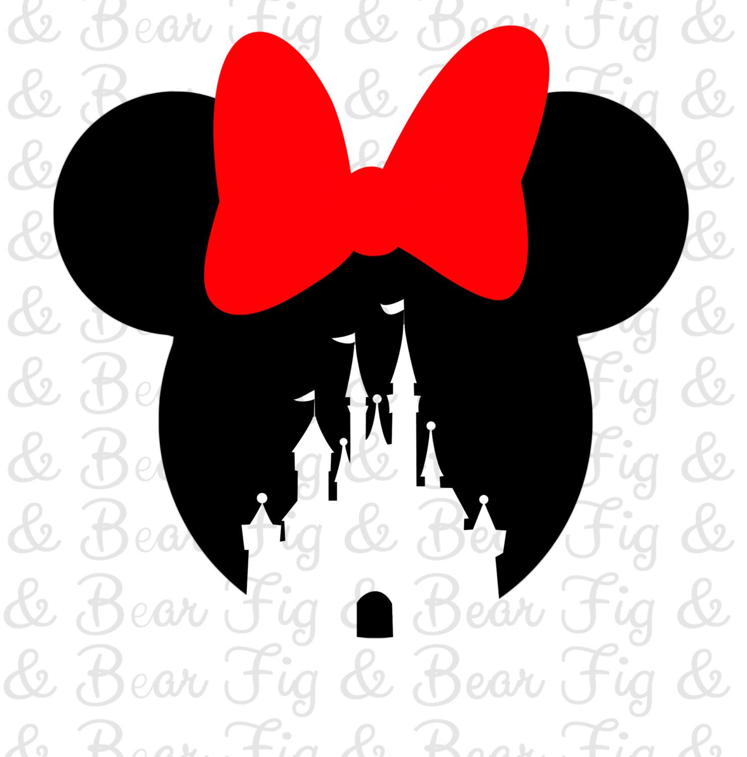 Disney Minnie Mouse Castle Shirt Iron on Transfer for