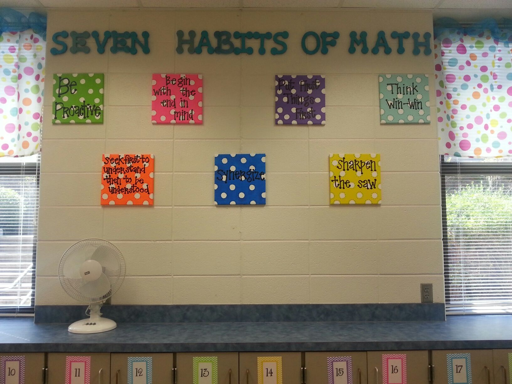 Classroom Decoration Ideas For Grade 7 ~ Seven habits in math classroom teaching pinterest