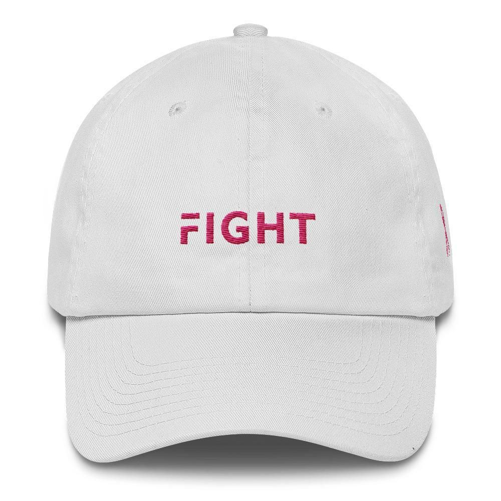 dd4102e1 Breast Cancer Awareness Dad Hat with Fight and Pink Ribbon | Hats ...