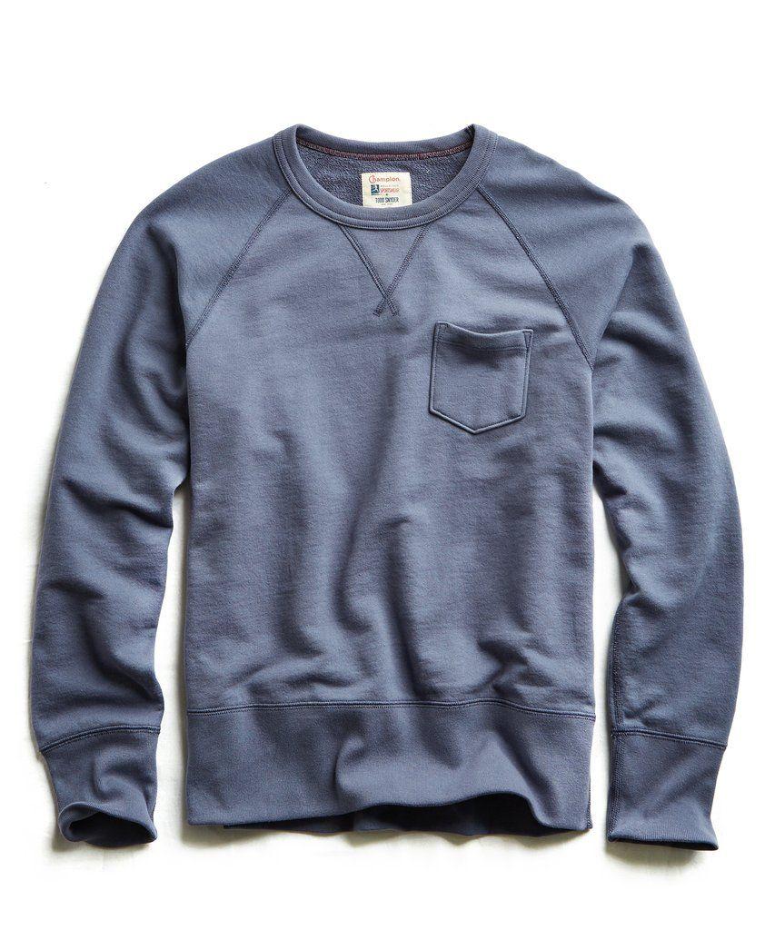 Terry Pocket Sweatshirt In Vintage Grape Sweatshirts Pocket Sweatshirt Long Sleeve Tshirt Men [ 1024 x 853 Pixel ]
