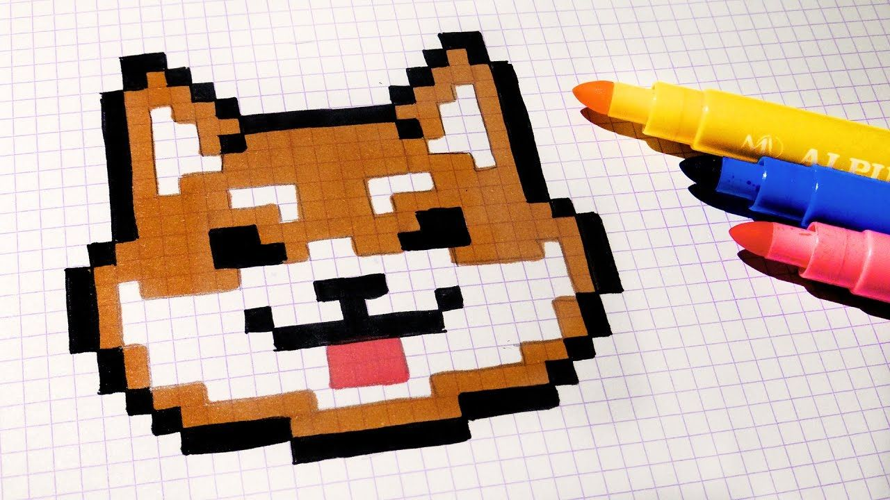 Handmade Pixel Art - How To Draw Kawaii Dog #pixelart ...
