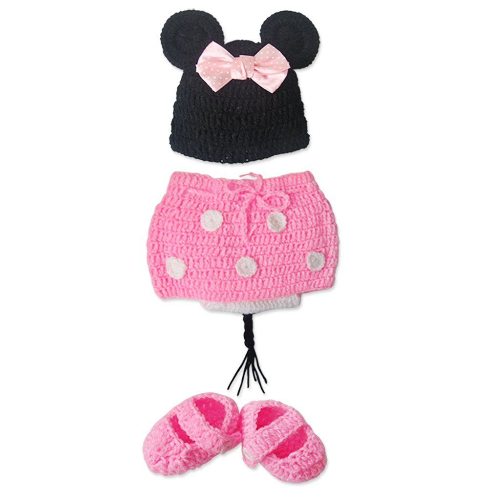 Tiaobug bbs dguisement minnie mouse tricot crochet set de tiaobug bbs dguisement minnie mouse tricot crochet set de costume 1pc bonnet 1pc bas bankloansurffo Choice Image