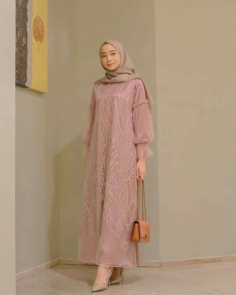 Dress Batik Kombinasi Hijab Dress Batik Kombinasi Dress Muslim Modern Kebaya Modern Dress Moslem Fashion
