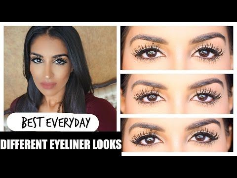 e7922b11201 Different Eyeliner Looks - Non Winged Eyeliner + tips - YouTube ...
