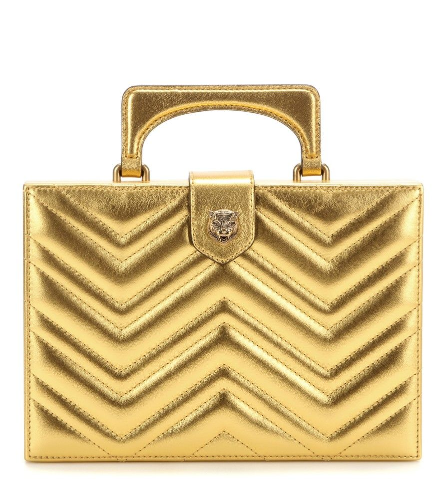 eb1a0b12178 GUCCI Broadway Box Quilted Metallic Leather Clutch.  gucci  bags  leather   clutch  metallic  hand bags