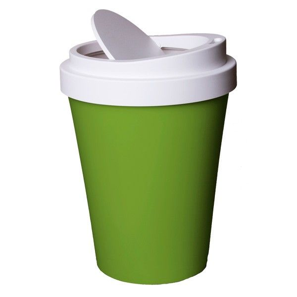 Coffee+Bin+-+Green+-+Who+said+bins+have+to+be+boring?+Not+the+designers+at+Qualy,+who+have+come+up+with+this+brilliant+Coffee+Bin+-+Green!  Shaped+like+a+takeaway+coffee+cup,+this+novelty+waste+can+will+help+you+keep+your+home+nice+and+tidy.+Perfect+for+coffee+lovers,+this+cheerful+twist+on+the+traditional+bin+would+be+a+welcome+addition+to+any+room+in+the+house+-+especially+home+offices+and+living+rooms!+You+could+also+take+it+to+work+-+where+we+find+most+of+the+coffee+is+consumed…