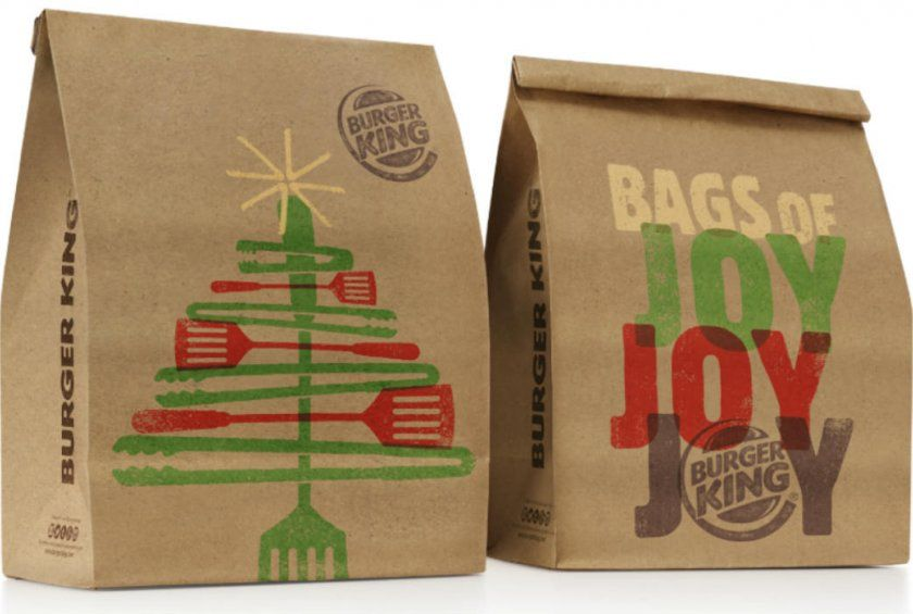 The true spirit of Christmas lies in your Whopper packaging.