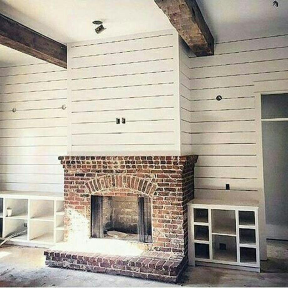 54 Incredible DIY Brick Fireplace Makeover Ideas | Brick fireplace ...
