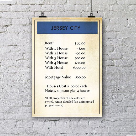 Jersey City Poster Jersey City Print Wall Art Prints Canvas Art Jerey City Wall Art Wall Prints Wall Posters Gift Ideas Poster Art Art Christmas Gifts Wall Prints Poster Wall