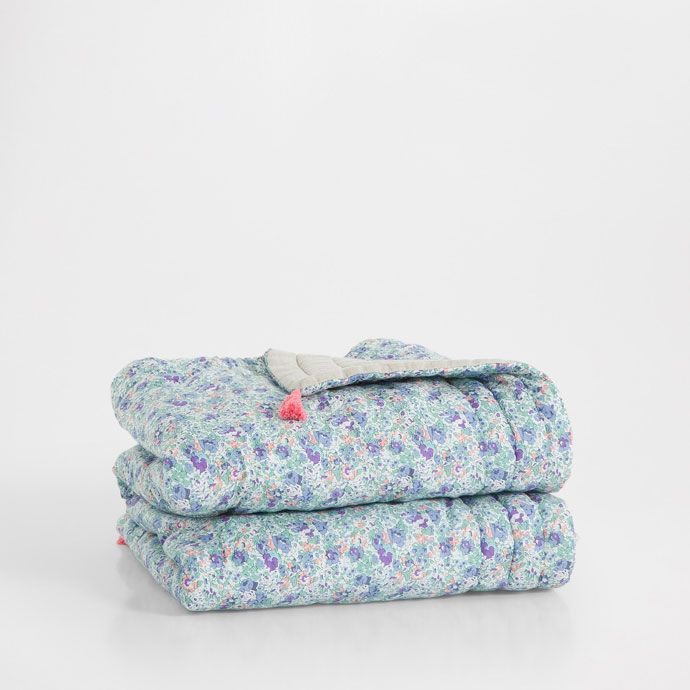 PAISLEY PRINT QUILT WITH POMPOM - Made with Liberty ...