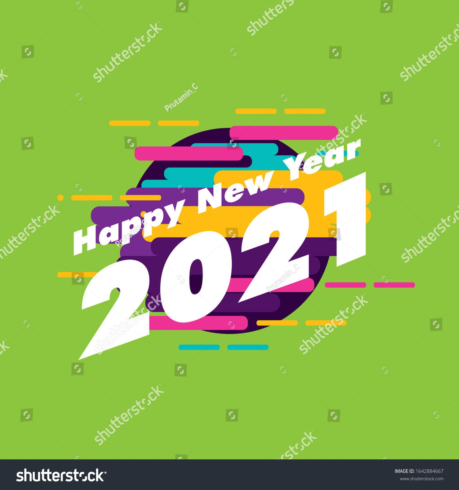 happy new year 2021, beautiful greeting card background or