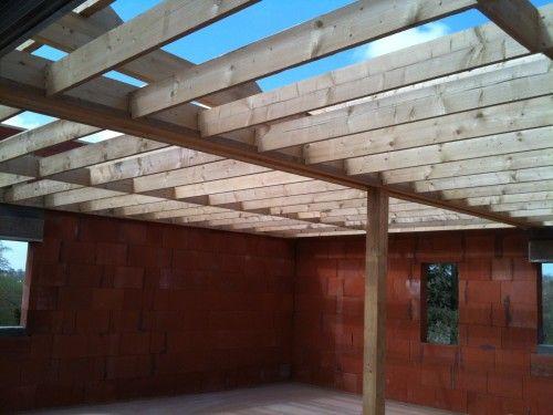 charpentes traditionnelles toit plat garage pinterest charpente charpente. Black Bedroom Furniture Sets. Home Design Ideas
