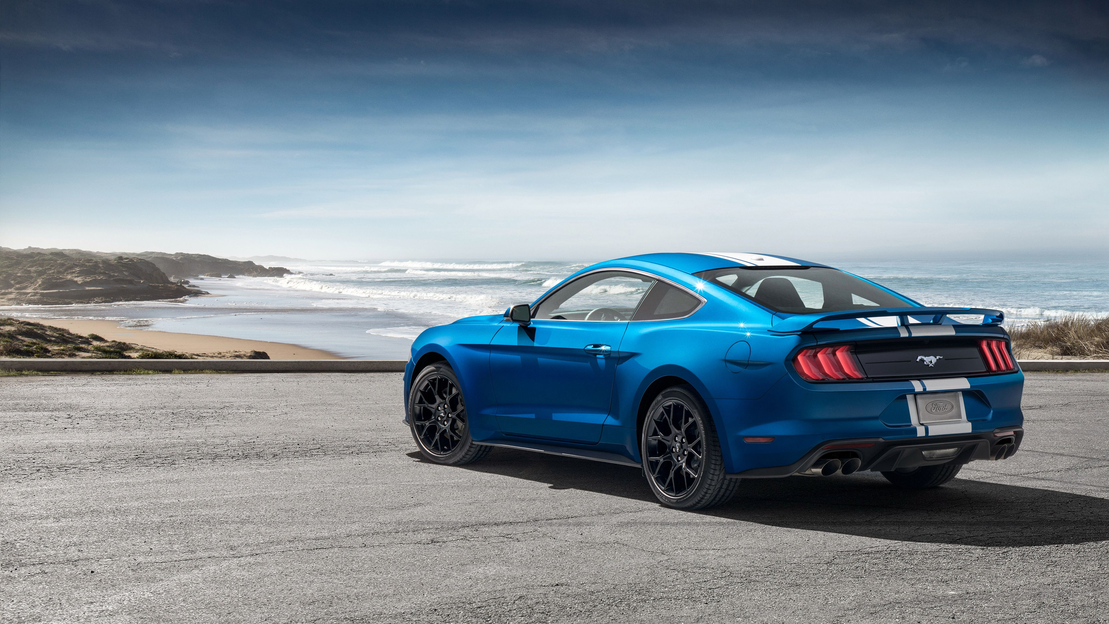 Wallpaper 4k Ford Mustang Ecoboost Performance Pack 1 2018 Rear