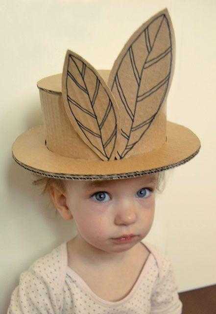 b b et chapeau de feuilles en carton activit s enfants pinterest pour enfants mad. Black Bedroom Furniture Sets. Home Design Ideas