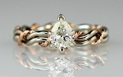 Diamond Cord Of Three Wedding Ring Photo Gallery